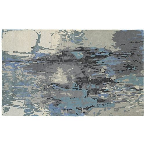 StyleHaven Giovanni Glacial Abstract Wool Blend Rug