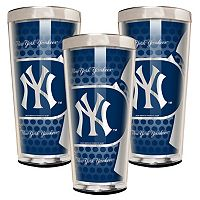 New York Yankees 3-Piece Shot Glass Set
