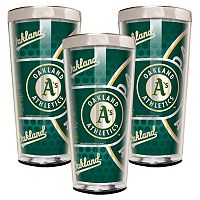 Oakland Athletics 3-Piece Shot Glass Set