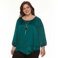 Plus Size AB Studio Yoryu Necklace Top