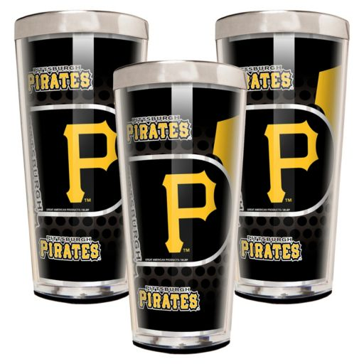 Pittsburgh Pirates 3-Piece Shot Glass Set
