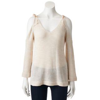 Women's LC Lauren Conrad Cold Shoulder V-Neck Sweater