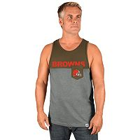 Men's Majestic Cleveland Browns Throw the Towel Tank