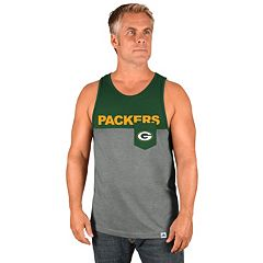 Men's Majestic Green Bay Packers Throw the Towel Tank