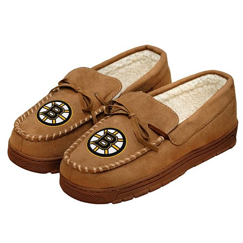 Men's Forever Collectibles Boston Bruins Moccasin Slippers