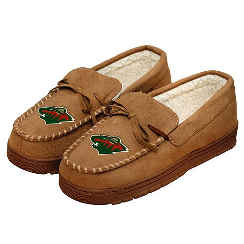 Men's Forever Collectibles Minnesota Wild Moccasin Slippers