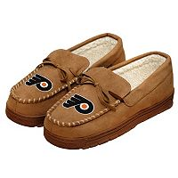Men's Forever Collectibles Philadelphia Flyers Moccasin Slippers