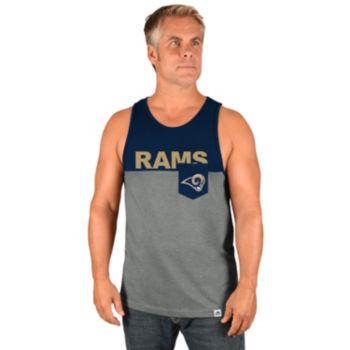 Men's Majestic Los Angeles Rams Throw the Towel Tank