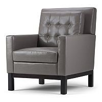 Simpli Home Carrigan Club Arm Chair