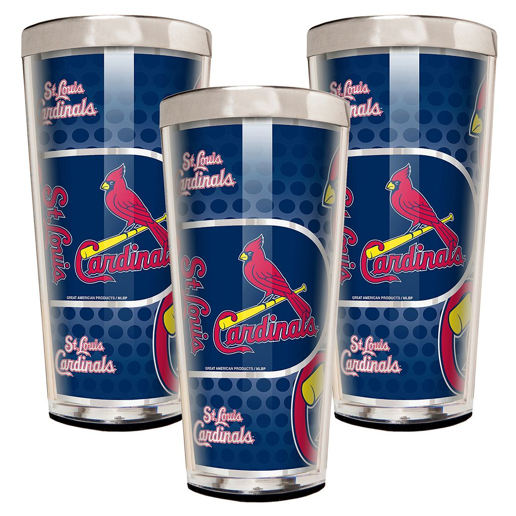 St. Louis Cardinals 3-Piece Shot Glass Set