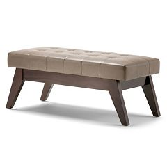 Simpli Home Draper Tufted Bench