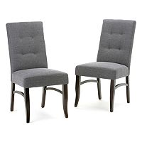 Simpli Home Ezra Tufted Dining Chair 2-piece Set