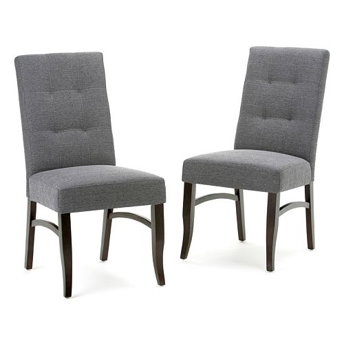 Simpli Home Ezra Tufted Dining Chair 2-piece Set