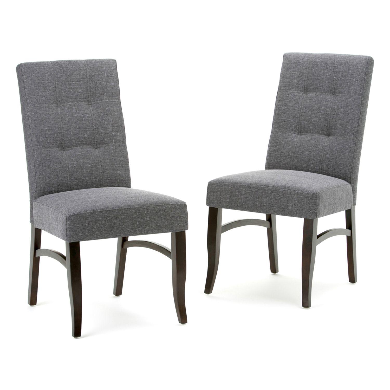 simpli home ezra tufted dining chair 2piece set