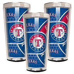 Texas Rangers 3-Piece Shot Glass Set