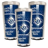 Tampa Bay Rays 3-Piece Shot Glass Set