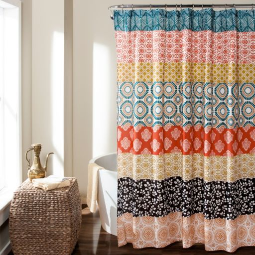Lush Decor Bohemian Stripe Shower Curtain