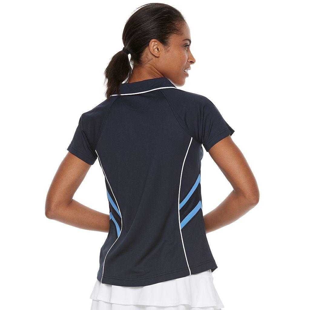 Women's FILA SPORT® Mesh-Inset Tennis Polo