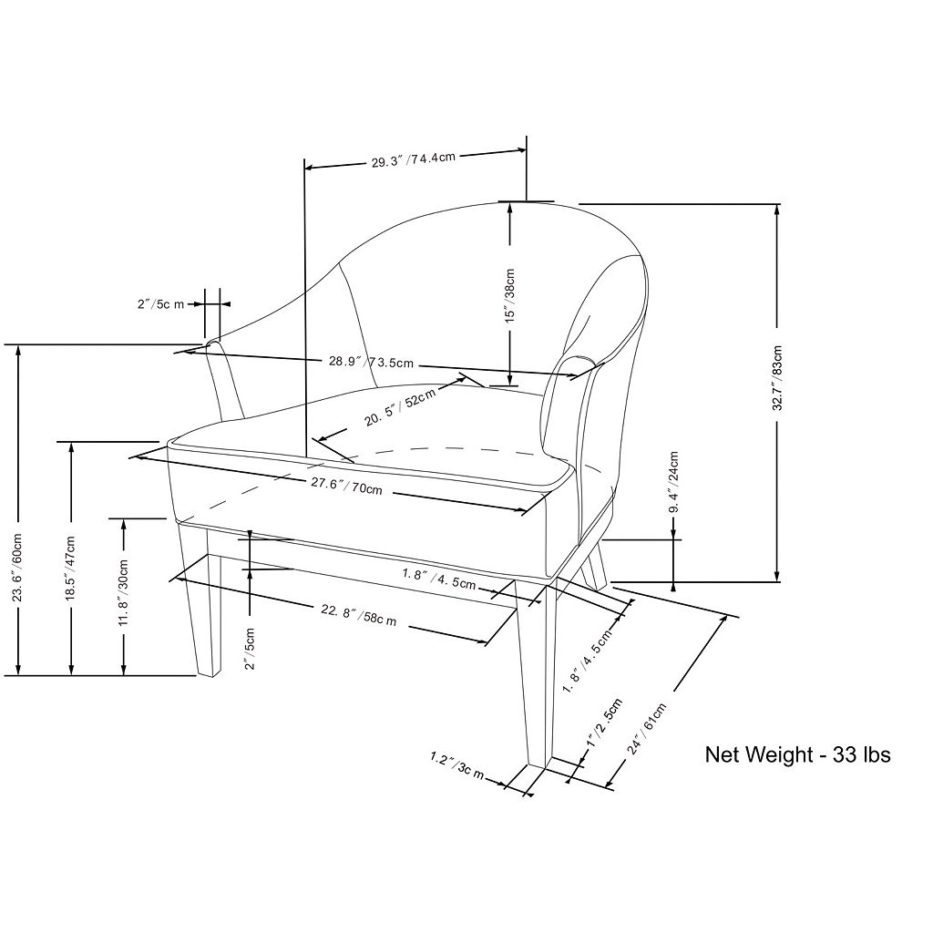 Simpli Home Louise Tub Accent Chair