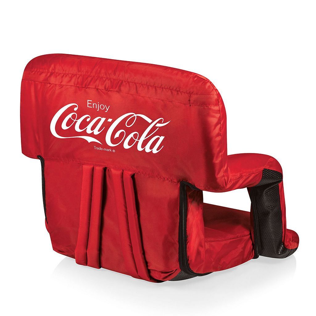 Picnic Time Coca-Cola Portable Recliner Chair