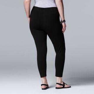 Plus Size Simply Vera Vera Wang Solid Capri Leggings