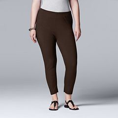 Plus Size Simply Vera Vera Wang Solid Capri Leggings