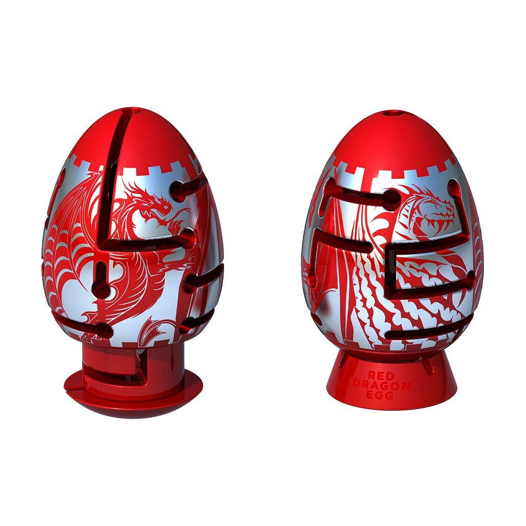 BePuzzled Smart Egg 2-Layer Difficult Red Dragon Labyrinth Puzzle