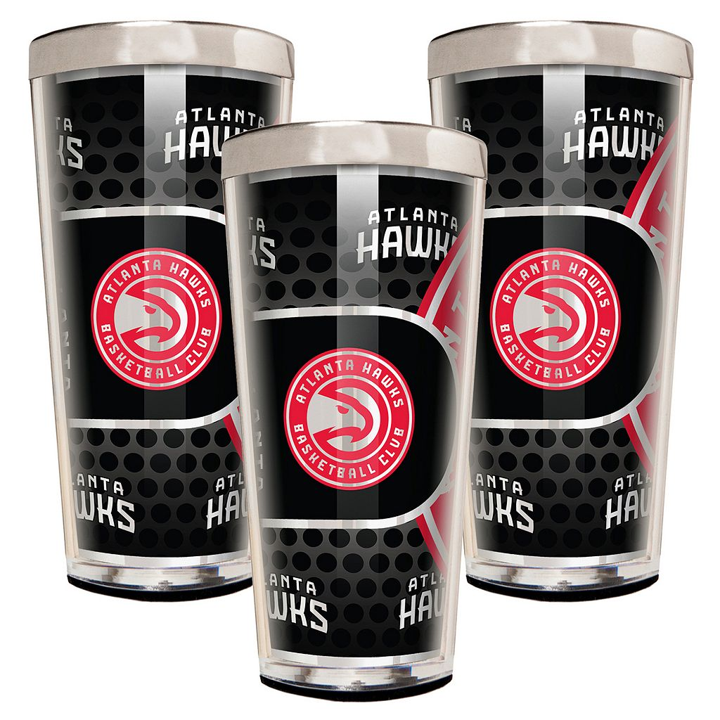 Atlanta Hawks 3-Piece Shot Glass Set