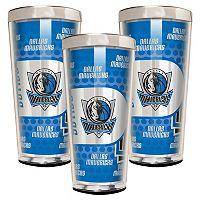Dallas Mavericks 3-Piece Shot Glass Set