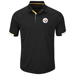 Men's Majestic Pittsburgh Steelers Last Second Win Polo