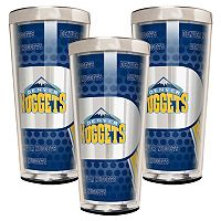 Denver Nuggets 3 pc Shot Glass Set