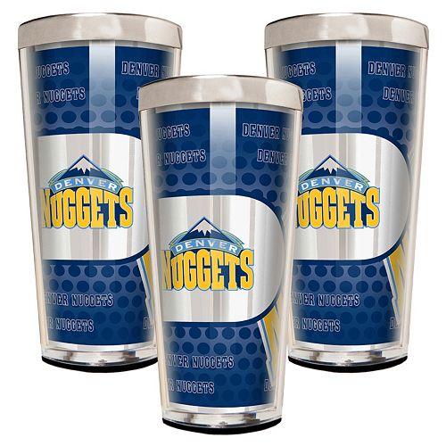 Denver Nuggets 3-Piece Shot Glass Set