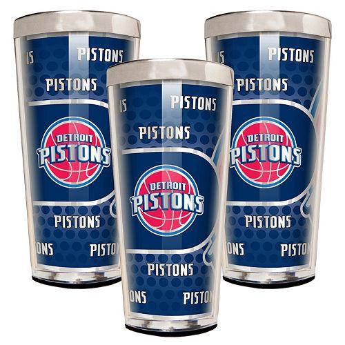 Detroit Pistons 3-Piece Shot Glass Set