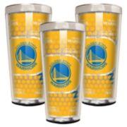 Golden State Warriors 3-Piece Shot Glass Set