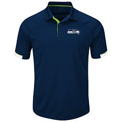 Men's Majestic Seattle Seahawks Last Second Win Polo