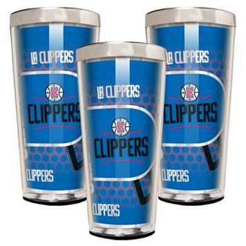 Los Angeles Clippers 3-Piece Shot Glass Set