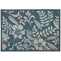 Nourison Coastal Nature Leaf Indoor Outdoor Rug