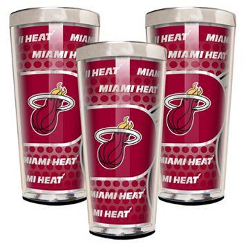Miami Heat 3-Piece Shot Glass Set