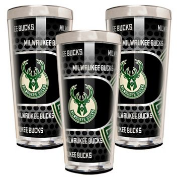 Milwaukee Bucks 3-Piece Shot Glass Set