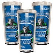 Minnesota Timberwolves 3 pc Shot Glass Set