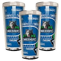 Minnesota Timberwolves 3-Piece Shot Glass Set