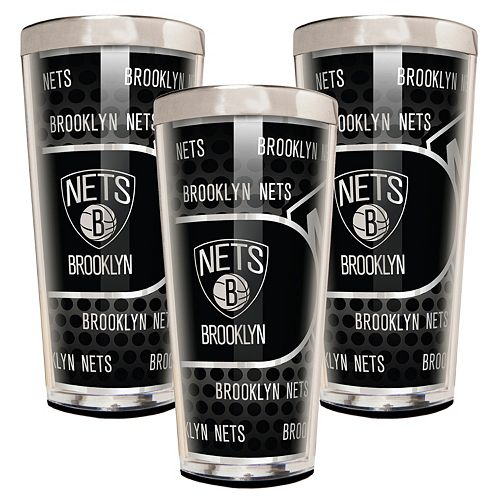 Brooklyn Nets 3-Piece Shot Glass Set