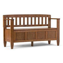 Simpli Home Brooklyn Storage Bench