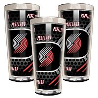 Portland Trail Blazers 3 pc Shot Glass Set