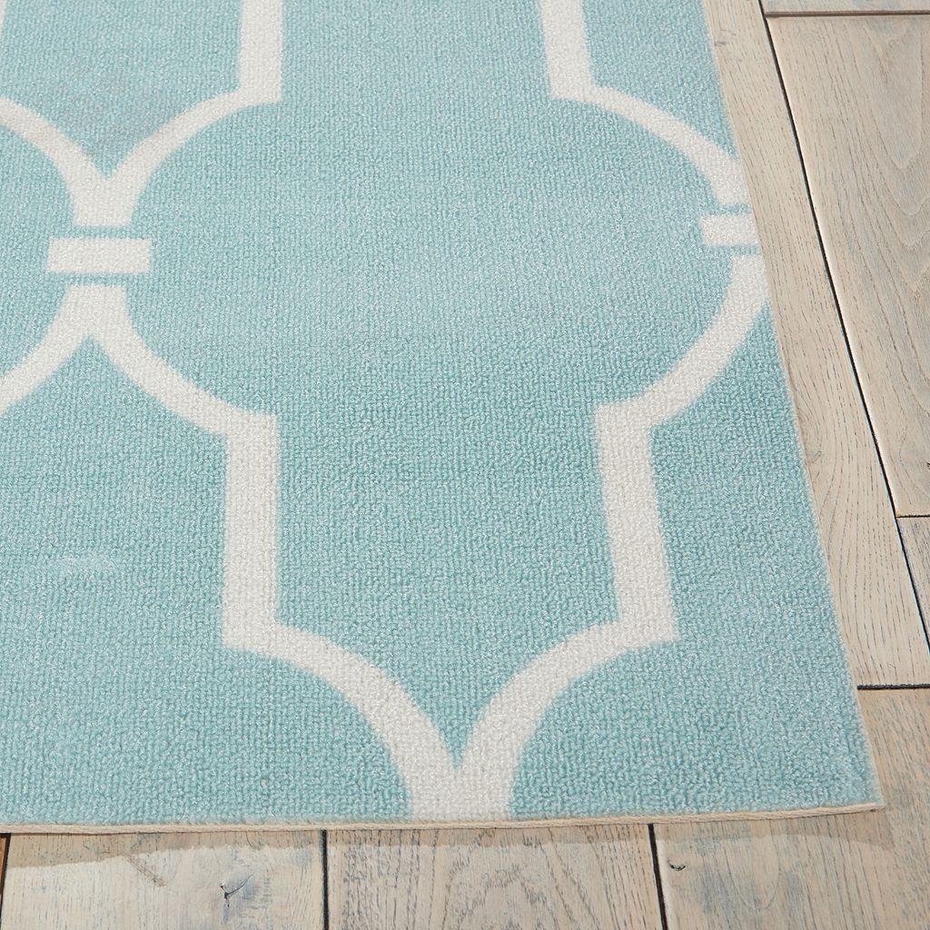 Nourison Home & Garden Wave Trellis Indoor Outdoor Rug