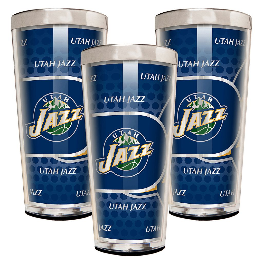 Utah Jazz 3-Piece Shot Glass Set