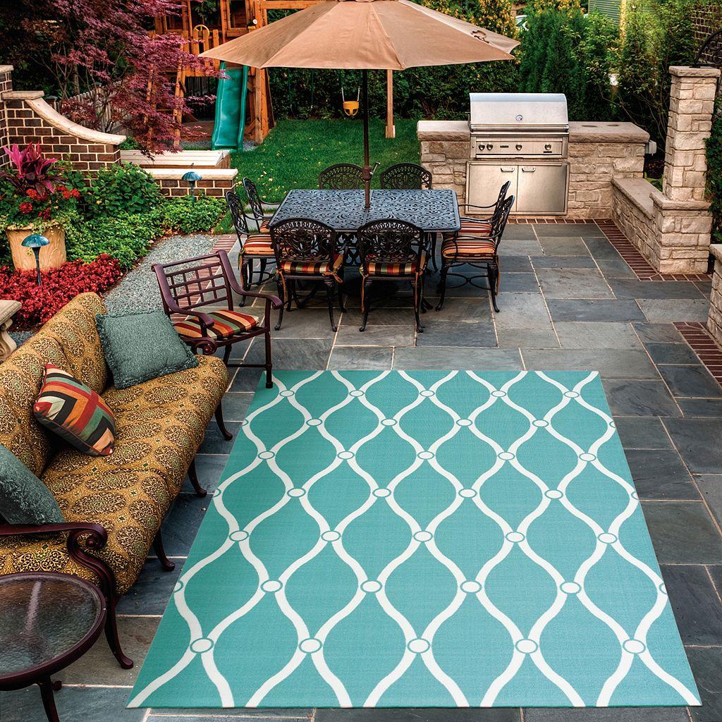 Nourison Home & Garden Swirl Trellis Indoor Outdoor Rug