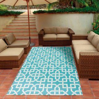Nourison Home & Garden Lattice Geo Indoor Outdoor Rug