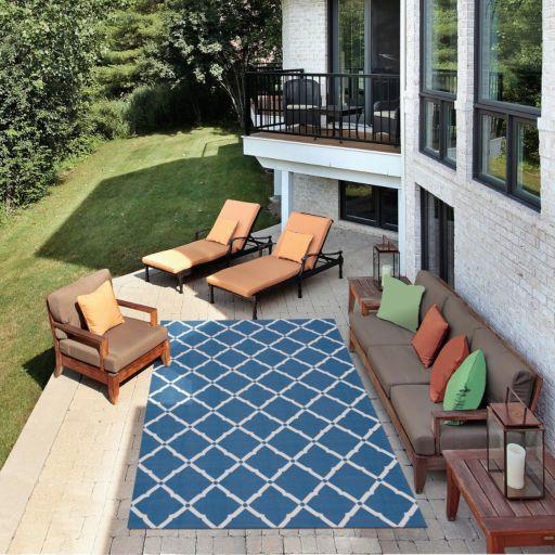 Nourison Home & Garden Diamond Lattice Indoor Outdoor Rug