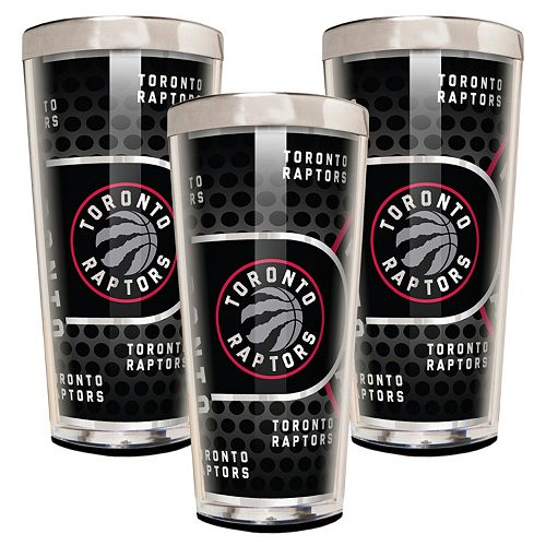 Toronto Raptors 3-Piece Shot Glass Set
